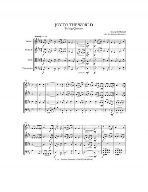 JOY TO THE WORLD – string quartet