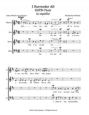 I Surrender All (SATB Choir) – a capella