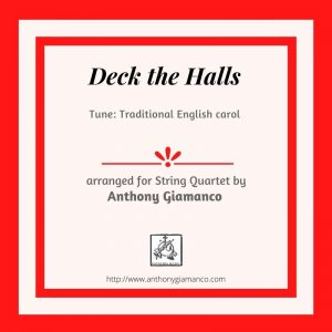 DECK THE HALLS – string quartet