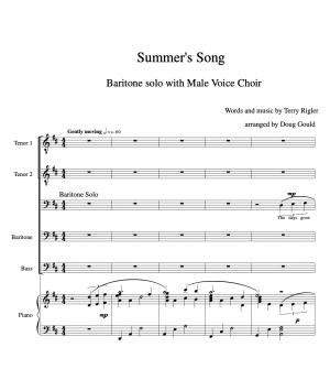 Summer's song – TTBB Choir