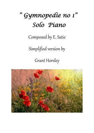 Gymnopedie no 1-E Satie. Solo Piano-(Easier version) Early Intermediate