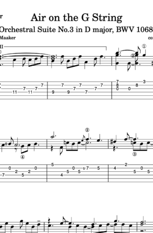 """""""Air on the G String"""" by J.S.Bach – classical guitar arrangement"""