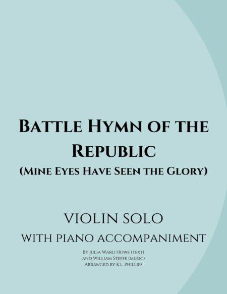 Battle Hymn of the Republic - Violin Solo with Piano Accompaniment webcover