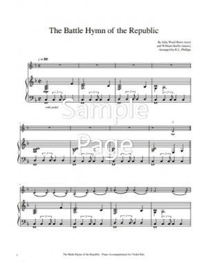 The Battle Hymn of the Republic – Violin Solo with Piano Accompaniment