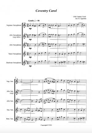 Jazz Carols Collection – Set Six – Saxophone Quartet