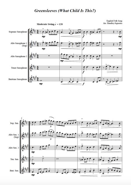 Greensleeves sax 4
