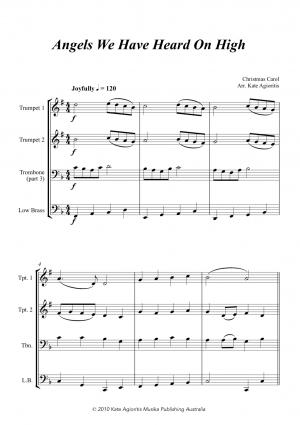 Jazz Carols Collection – Set One – Brass Quartet