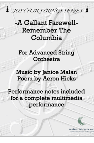 A Gallant Farewell (Remember The Columbia) – String Orchestra