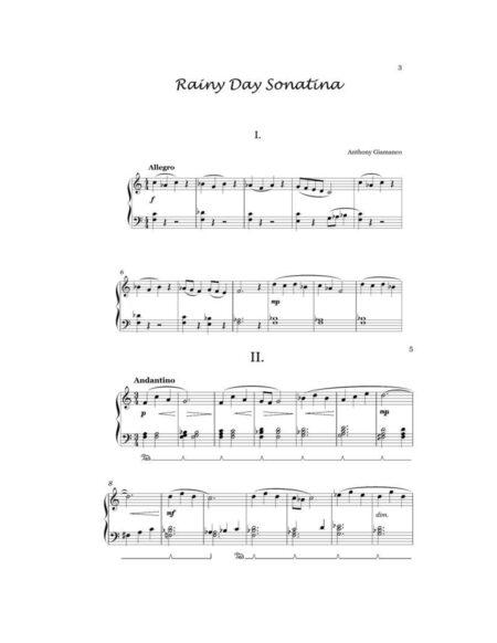 RAINY DAY SONATINA piano page1