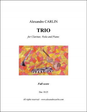 Trio for Clarinet, Viola and Piano
