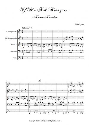 Brass Quintet – If It's Not Baroquen