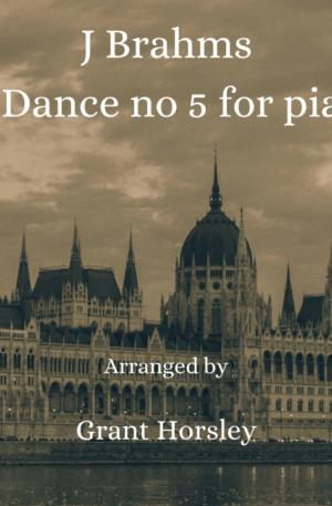 Brahms -Hungarian Dance No 5 – Piano 4 hands Intermediate