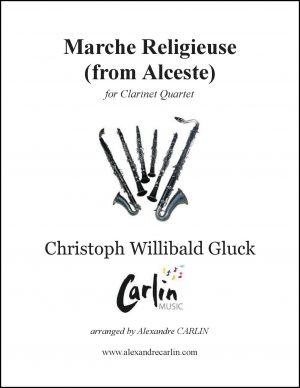 Gluck – Marche religieuse d'Alceste for Clarinet Quartet