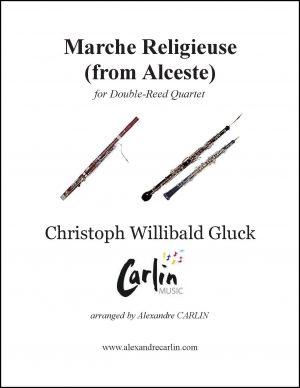 Gluck – Marche religieuse d'Alceste for Double-Reed Quartet