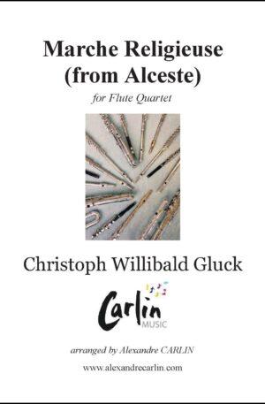 Gluck – Marche religieuse d'Alceste for Flute Quartet