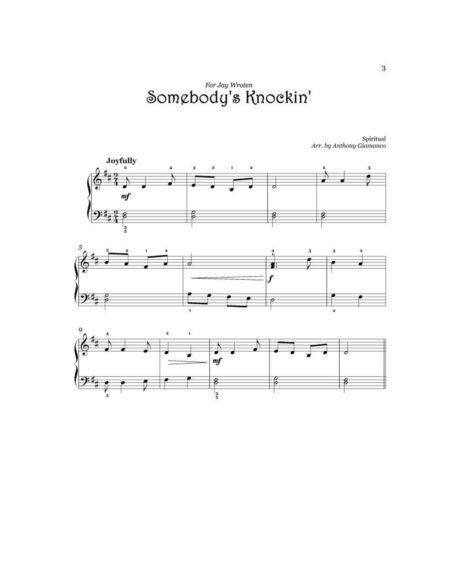 SOMEBODYS KNOCKIN easy piano