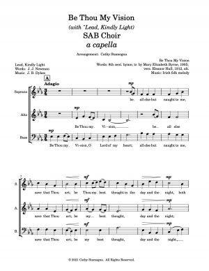 "Be Thou My Vision (with ""Lead, Kindly Light"") (SAB, SSA Choir – a capella)"