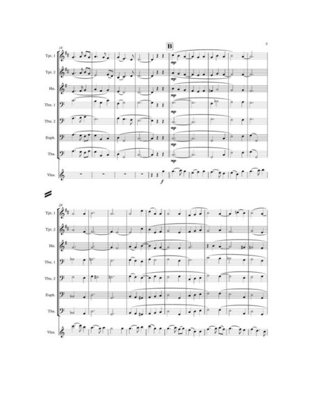 WE GATHER TOGETHER brass sextet violin page2