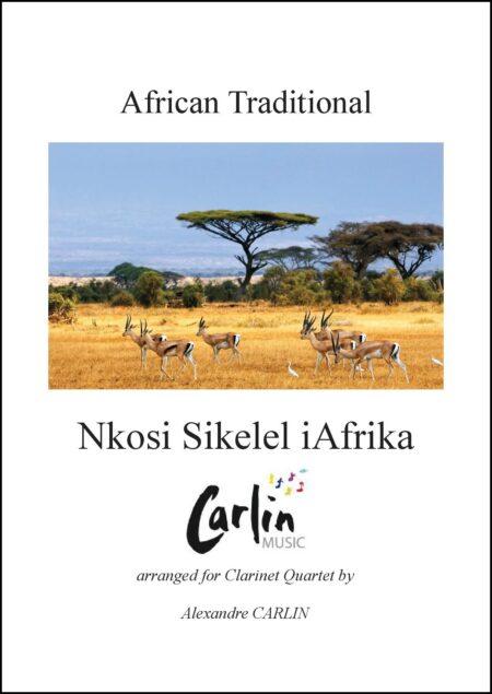 Nkosi Sikelel iAfrika Clarinettes Webcover with border
