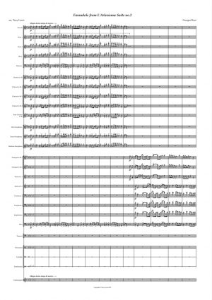 Farandole From L'Arlesienne Suite No. 2 for Concert Band