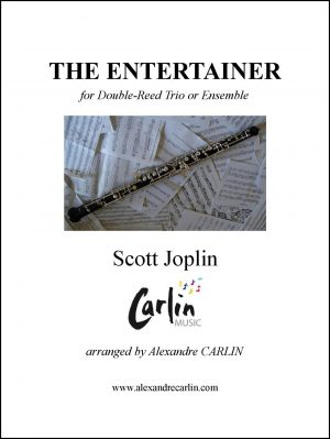 Joplin – The Entertainer for Double Reed Trio or ensemble