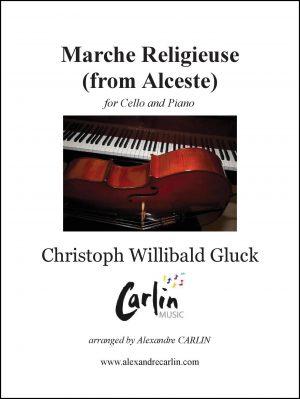 Gluck – Marche religieuse d'Alceste for Cello and Piano