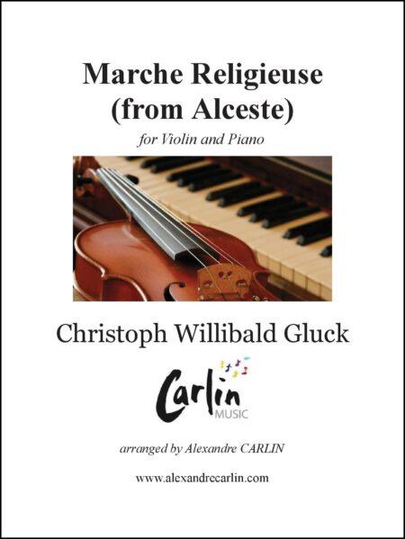 Marche religieuse dAlceste violin piano Webcover with border