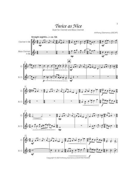 TWICE AS NICE clarinet bass clarinet page1