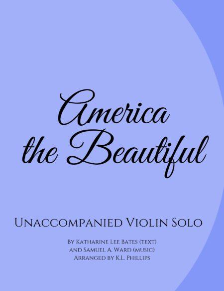 America the Beautiful - Unaccompanied Violin Solo webcover