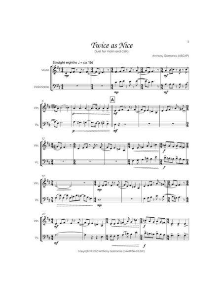 TWICE AS NICE violin cello graphic page1