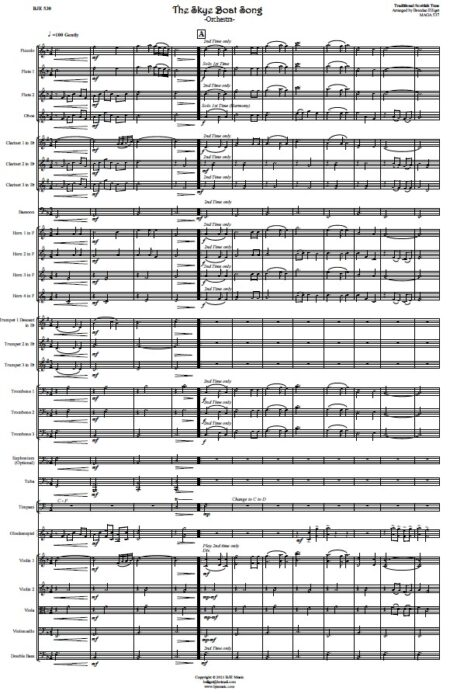 530 The Skye Boat Song ORCHESTRA Sample page 001