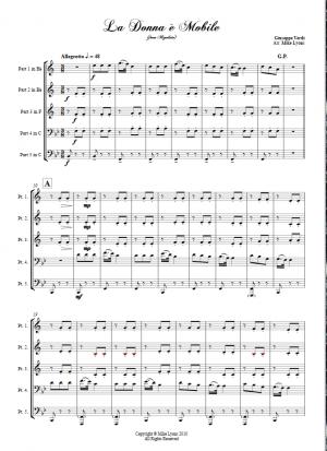 Brass Quintet – Verdi La Donna E Mobile