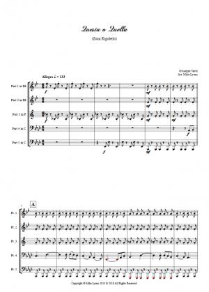 Brass Quintet – Verdi Questa o Quella