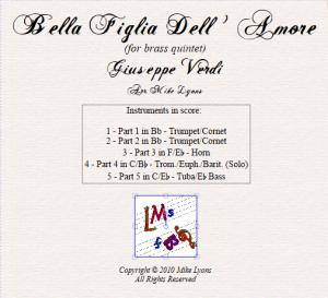 Brass Quintet – Verdi Bella Figlia Dell'Amore