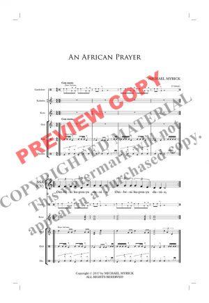 An African Prayer