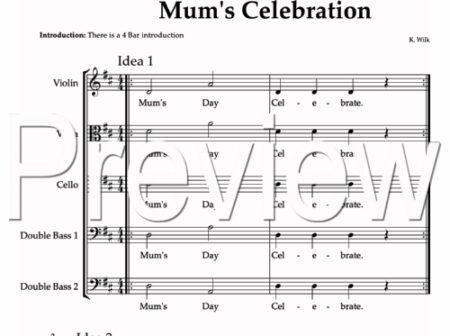 Mum's Celebration score preview