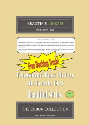 No.3 Beautiful Dream (Trombone Bass Clef or Bb Treble Clef)