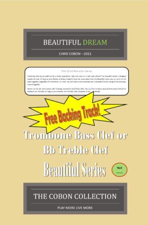 No.3 Beautiful Dream (Trombone Bass Clef or Bb Treble Clef)