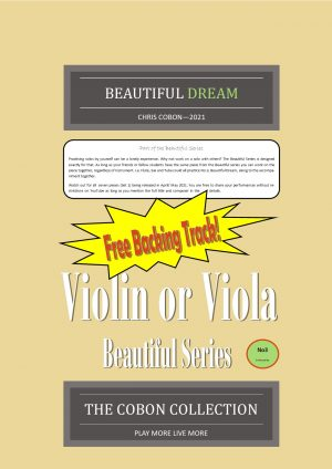 No.3 Beautiful Dream (Violin or Viola)