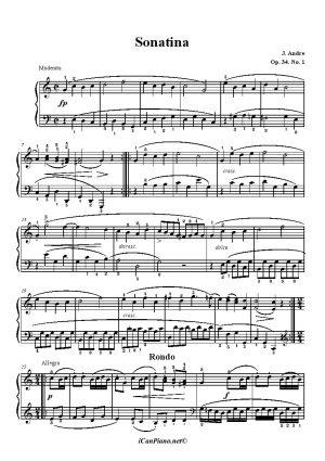 Andre Sonatina Op. 34 No. 1