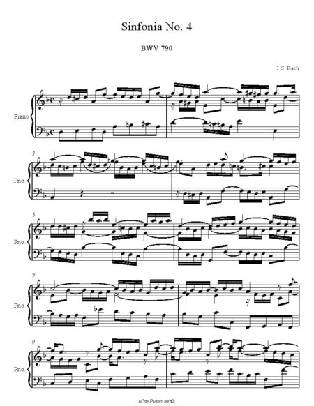 Bach20Sinfonia20No.20420in20D20Minor20BWV20790