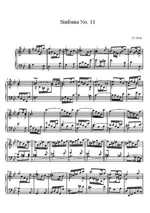 Bach Sinfonia No. 11 BWV 797