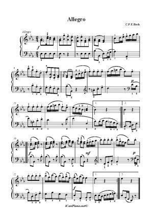 Bach C.P.E Allegro