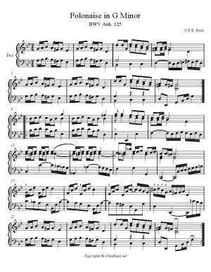 Bach C.P.E. Polonaise BWV Anh. 125 (Notebook of Anna Magdalena)