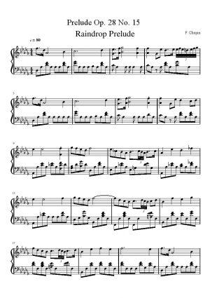 Chopin Prelude Op. 28 No. 15 'Raindrop'