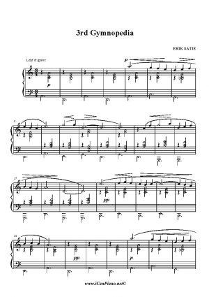 Satie 3rd Gymnopedia