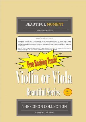 No.4 Beautiful Moment (Violin or Viola)