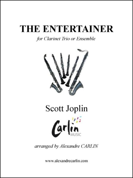 The entertainer clarinet Webcover with border