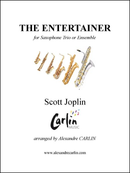 The entertainer saxophone Webcover with border