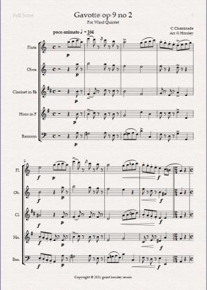 """Gavotte"" op 9 no 2- C. Chaminade for Wind Quintet"